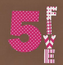 Little Girls 5th Birthday Iron On Fabric Applique
