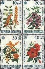 Indonesia 503-506 (complete issue) unmounted mint / never hinged 1966 Flowers