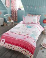 Bunny Cat Rabbit Duvet Cover Pink Quilt Bedding Kids Children Girls Single Set