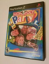 Monopoly Party Sony PlayStation 2 PS2 System Complete Game U.S. Version