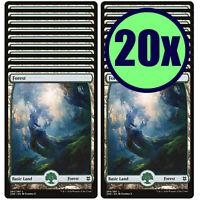 20x FOREST 280 Full Art Basic Land NM/LP MTG Magic the Gathering Zendikar Rising