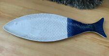 Sainsbury's Home Melamine Long Fish Platter Blue & White