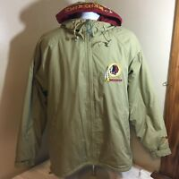 Vtg Pro Player NFL Washington Redskins Full Zip Jacket Small Embroidered Hood