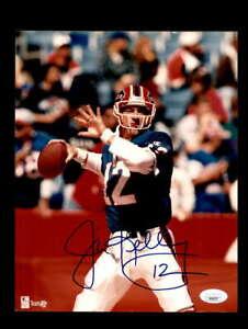 Jim Kelly JSA Coa Signed 8x10 Autograph Photo