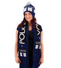 Doctor Who TARDIS Blue KNIT Scarf & Matching Knit Laplander