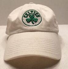 BOSTON CELTICS BALL CAP HAT CLOVER LEAF LOGO SEWN ADJUSTABLE FIT EUC