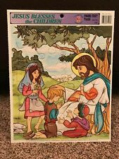 Jesus Blesses the Children Frame Tray Jigsaw Puzzle 1998 Golden Books Publishing