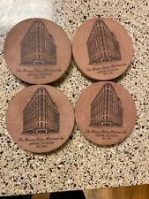 VINTAGE SET OF 4 BROWN PALACE HOTEL DENVER COLORADO ORIGINAL SANDSTONE COASTERS