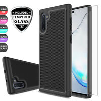 For Samsung Galaxy Note 10+ Plus 5G Hybrid Armor Case Cover + Screen Protector
