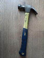 BLUE SPOT 16oz QUALITY CLAW HAMMER FIBREGLASS HANDLE RUBBER GRIP
