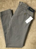 "RALPH LAUREN POLO GREY TAILORED SLIM FIT CHINOS TROUSERS PANTS - 32"" - NEW TAGS"