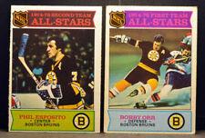 LOT 2 OPC O-PEE-CHEE 1975-76 All-Stars #288 BOBBY ORR & #292 PHIL ESPOSITO