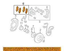 TOYOTA OEM 2004 Camry Brake-Front Pads 0446533340