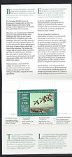 1996 Canada Wildlife Conservation stamp - CN12 - artist autograph on stamp