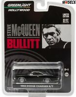 1968 DODGE CHARGER BULLIT MCQUEEN Greenlight Limited Edition 1/64 Die Cast New