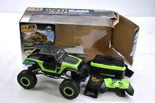 New Bright RC 1:14 Scale VR Dash Cam Rock Crawler Jeep Radio Video Stream