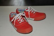 BOY NEXT RED CANVAS LACE UP SHOES SIZE 10