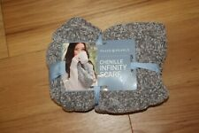 NWT, Women's Peace & Pearls, Chenille Infinity Scarf, Heather Gray