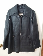 Woman's Mardini Genuine Leather Jacket / Coat - Black Size S