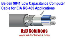 Belden 9841 Low Capacitance Computer Cable for EIA RS-485 Applications 500 ft