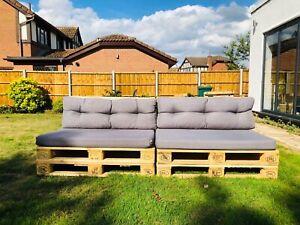 Two Wooden Indoor/Outdoor Rustic Patio Garden Pallet Furniture Chairs Sofas