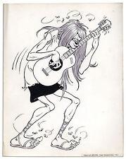 Al Capp Drawing of One of His ''SWINE'' Hippie Characters Comic Art