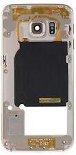 Carcasa Chasis Marco Frame USADO B PARA SAMSUNG S6 EDGE + PLUS G928F ORO DORADO
