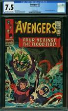 Avengers #27 CGC 7.5 -- 1966 -- Attuma. Beetle. Kirby Heck cvr #2034130012