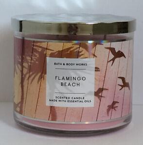 BATH & BODY WORKS Flamingo Beach 3 WICK CANDLE NEW 14.5oz (629)