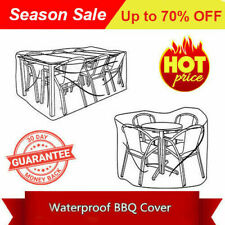*Sales! Water proof Patio Furniture table chairs Cover 210Dia*85 PE Woven