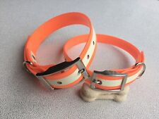 Glow In The Dark Biothane Dog Collars 25mm Wide LARGE-XL DOGS