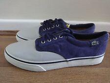 Lacoste Barbados SE Zapatos Tenis Gris Live/púrpura UK 8 EU 42 nos 9 Nuevo Con Etiqueta