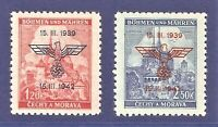 DR Nazi 3rd Reich Rare WW2 '1943 Nazi Overprint Swastika Eagle Occupation Czech