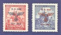 DR Nazi 3rd Reich Rare WW2 '1943 Nazi Overprint Swastika Eagle Occupation Czech