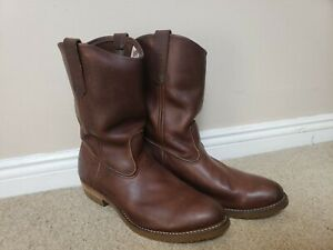 Red Wing Pecos Boots - Size UK 10E - Amber Harness Leather - Style 8159