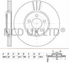 JURATEK PAIR OF FRONT BRAKE DISCS FOR SEAT IBIZA HATCHBACK 1.9 TDI CUPRA R