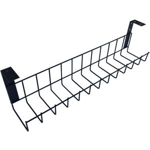 The Basket Cable Rack Wire Mesh System - Under Desk - Black, Silver, White