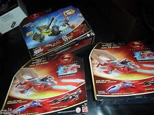 3 LOT DC COMIC SUPERMAN Man Steel Quick Shot Tank Buster Battle Pack Figure +JET