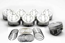 Mercruiser Chevy Marine 5.7L/350ci Dish Top Pistons MOLY Rings 020 260 280 255 +