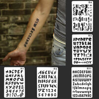 AU_ GT- Letters Numbers DIY Craft Embossing Stencil Tattoo Template Wall Paintin