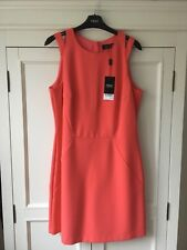 BNWT Next Coral Dress Size 14 Fully Lined