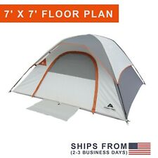 New 3-4 Person Dome Tent Double Layer Family Camping Hiking Waterproof Portable