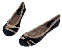 Sami-27 New Slip On Casual Party Flats Office Winter Warn Women/'s Shoes Chestnut