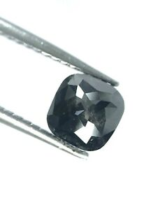 Big Black Oval Full cut Natural Loose Diamond 2.16TCW for Jewel Gift Low Price