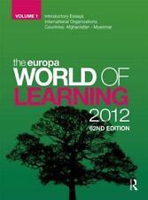 Europa World of Learning 2012 Volume 1 (Volume 1)