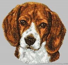 Large Embroidered Zippered Tote - Beagle DLE3663