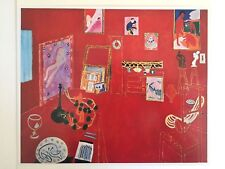 "MATISSE AUTHENTIC VINTAGE 1973 FAUVISM LITHOGRAPH PRINT "" THE RED STUDIO "" 1911"