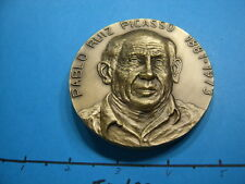 8.6 OZ PICASSO DOUBLE HIGH RELIEF DETAIL LARGE BRONZE SHARP DETAIL COIN AWESOME