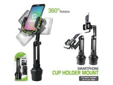 Extended Adjustable Car Cup Holder Cell Phone Mount for Samsung Galaxy S8