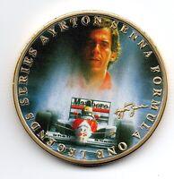Ayrton Senna Lewis Hamilton Gold Coin Autographed Formula 1 Motor Car Racing UK